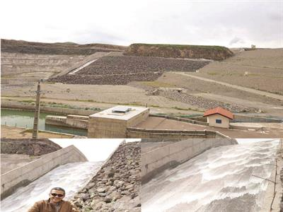 For the first time, the Zola reservoir overflowed at Salmas